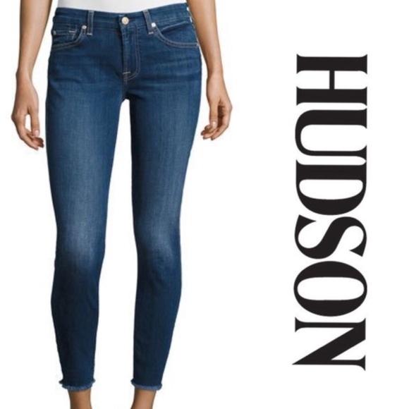 926a8fb2 Hudson Jeans Denim - Hudson Krista Super Skinny Raw Hem Ankle Jeans 25